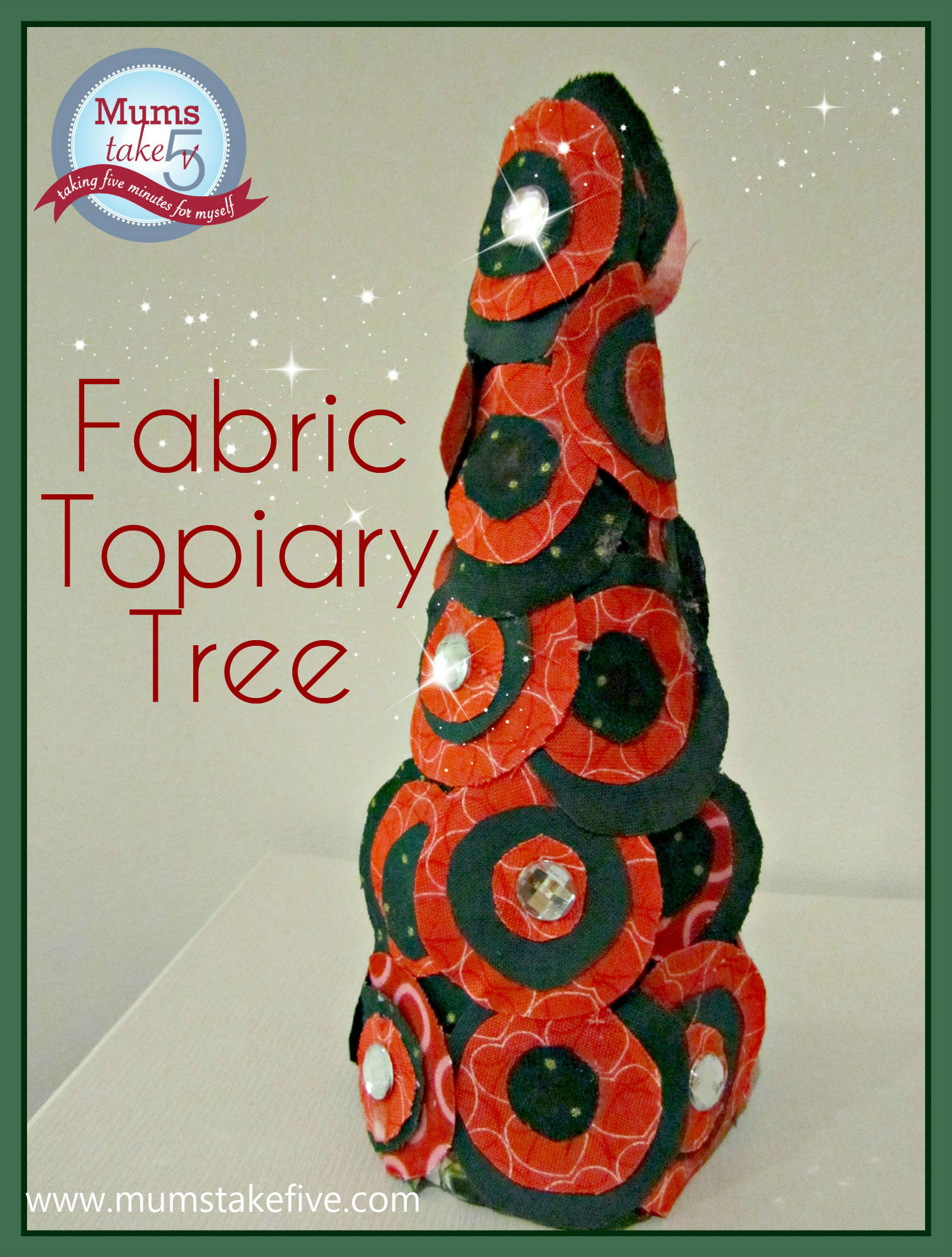 Fabric Topiary tree Christmas craft