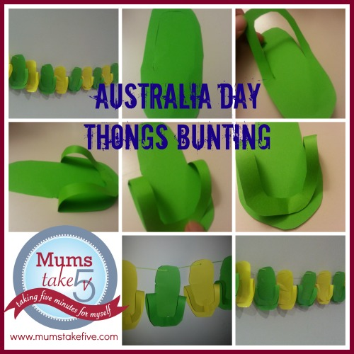 Australia day bunting craft for Australia day decoration ideas