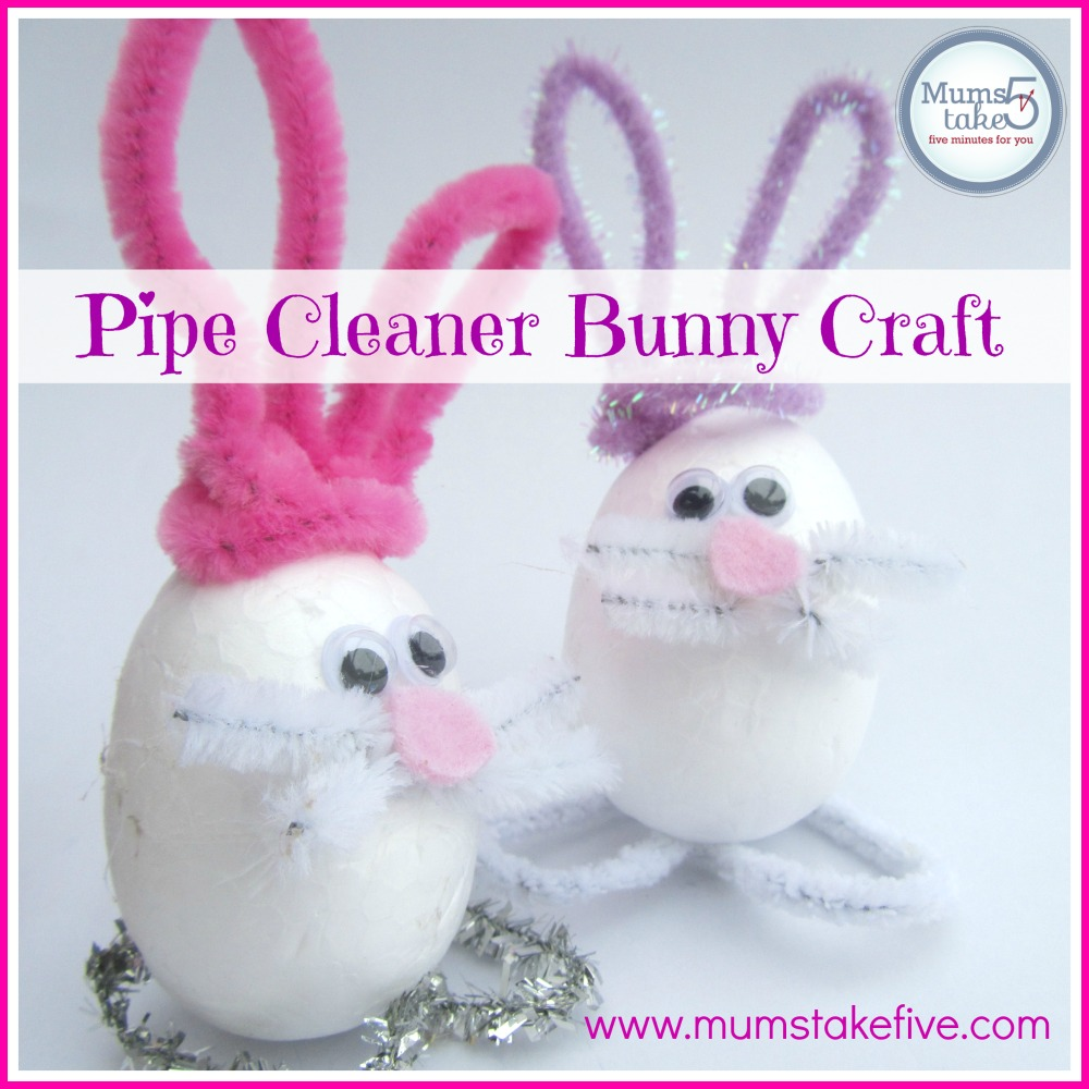 Easter Bunny Pip Cleaner Kids Craft