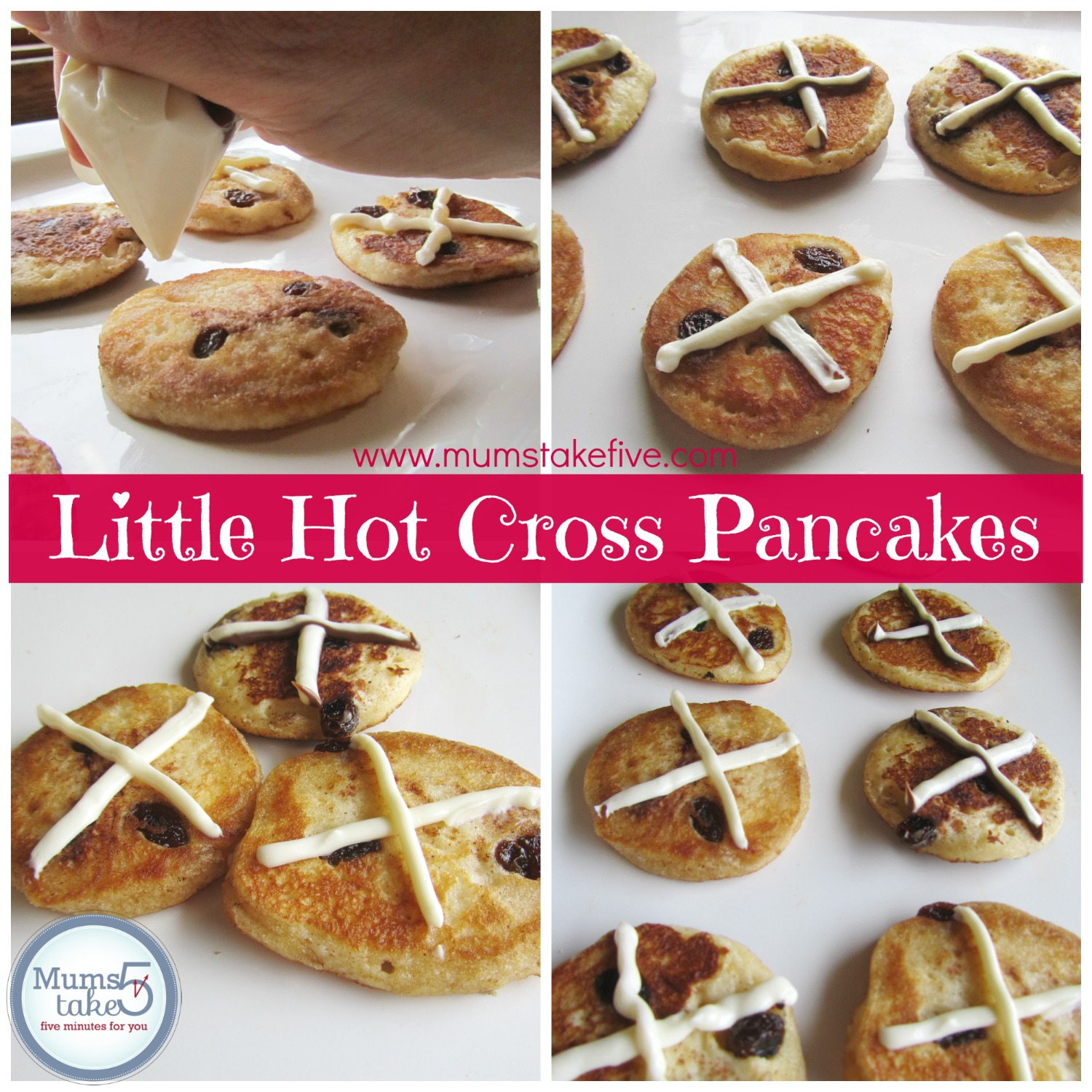 Little Hot Cross Pancakes - Easter Pikelets