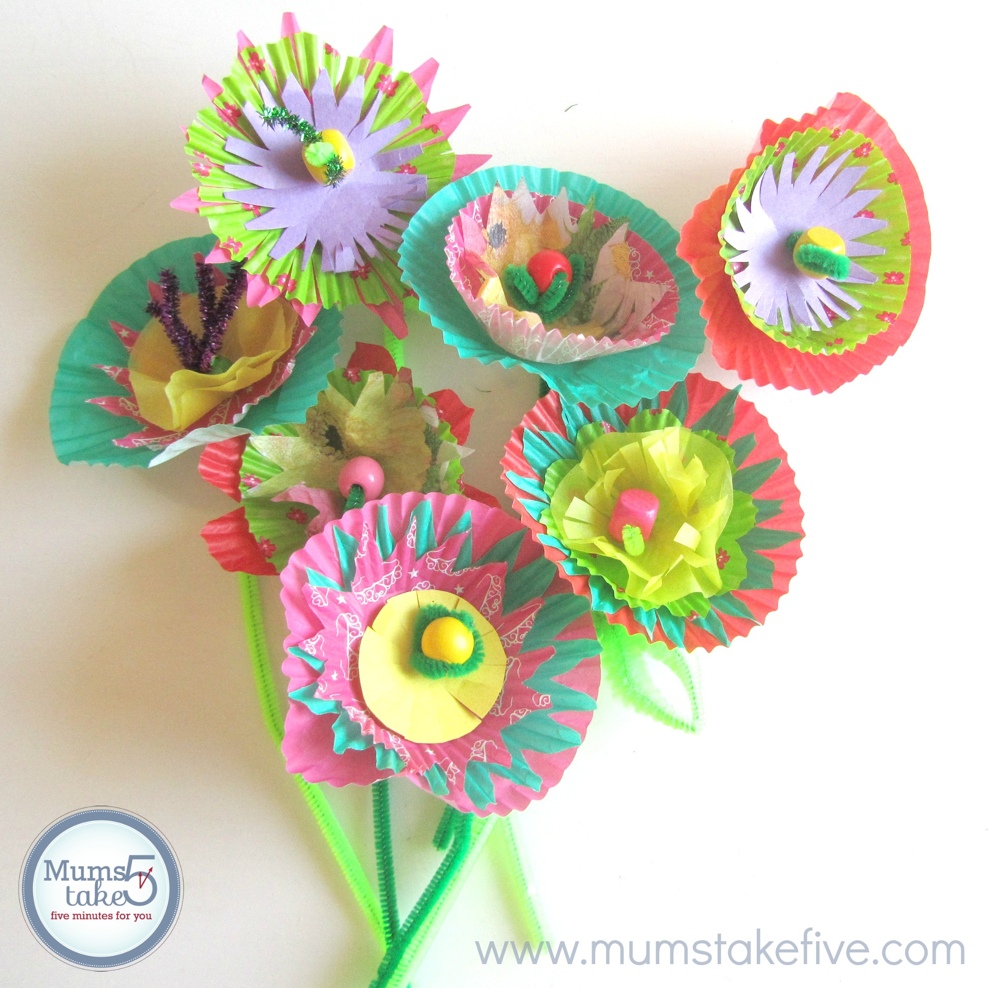 Flower craft paper flowers kids craft mightylinksfo Image collections