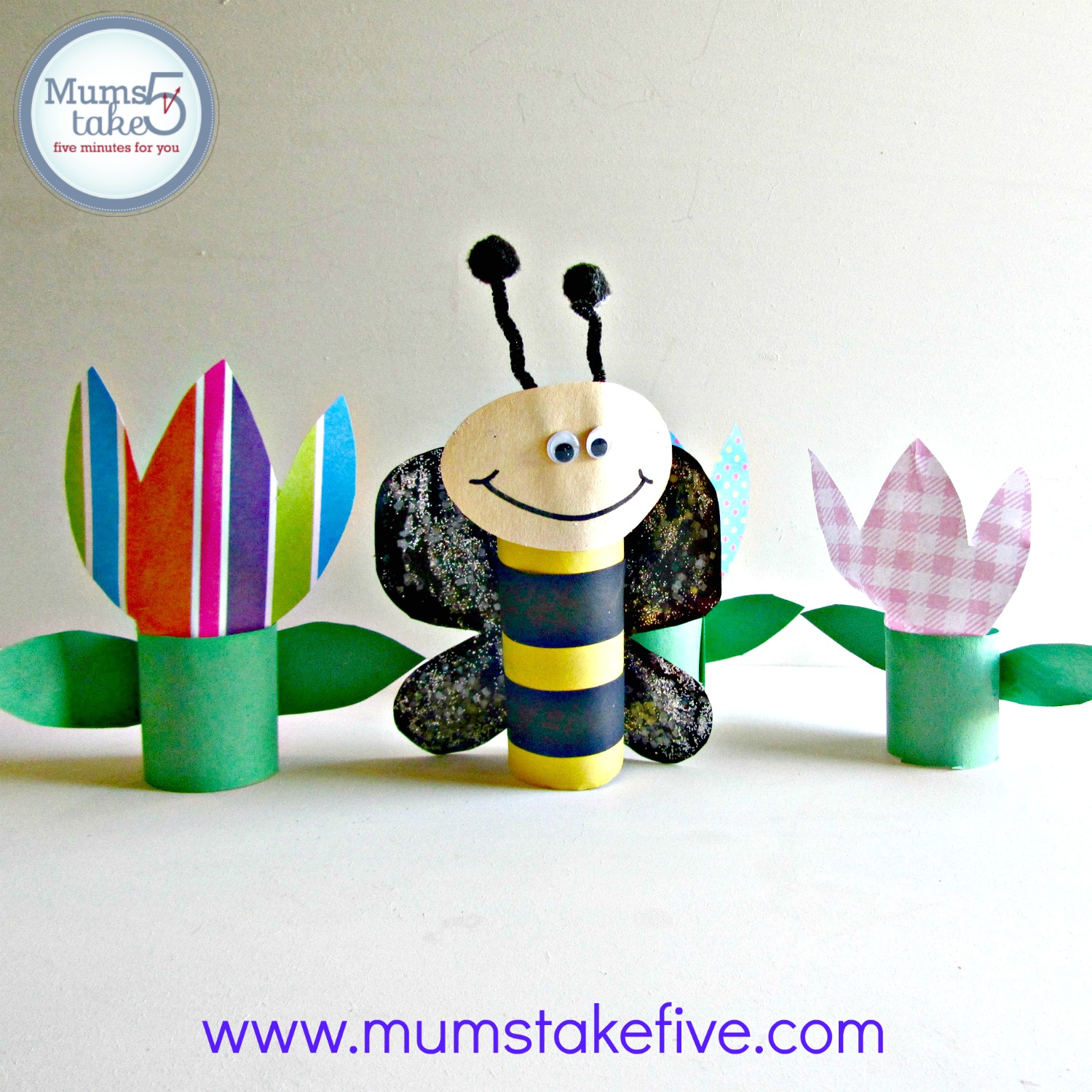 Paper Roll Bee