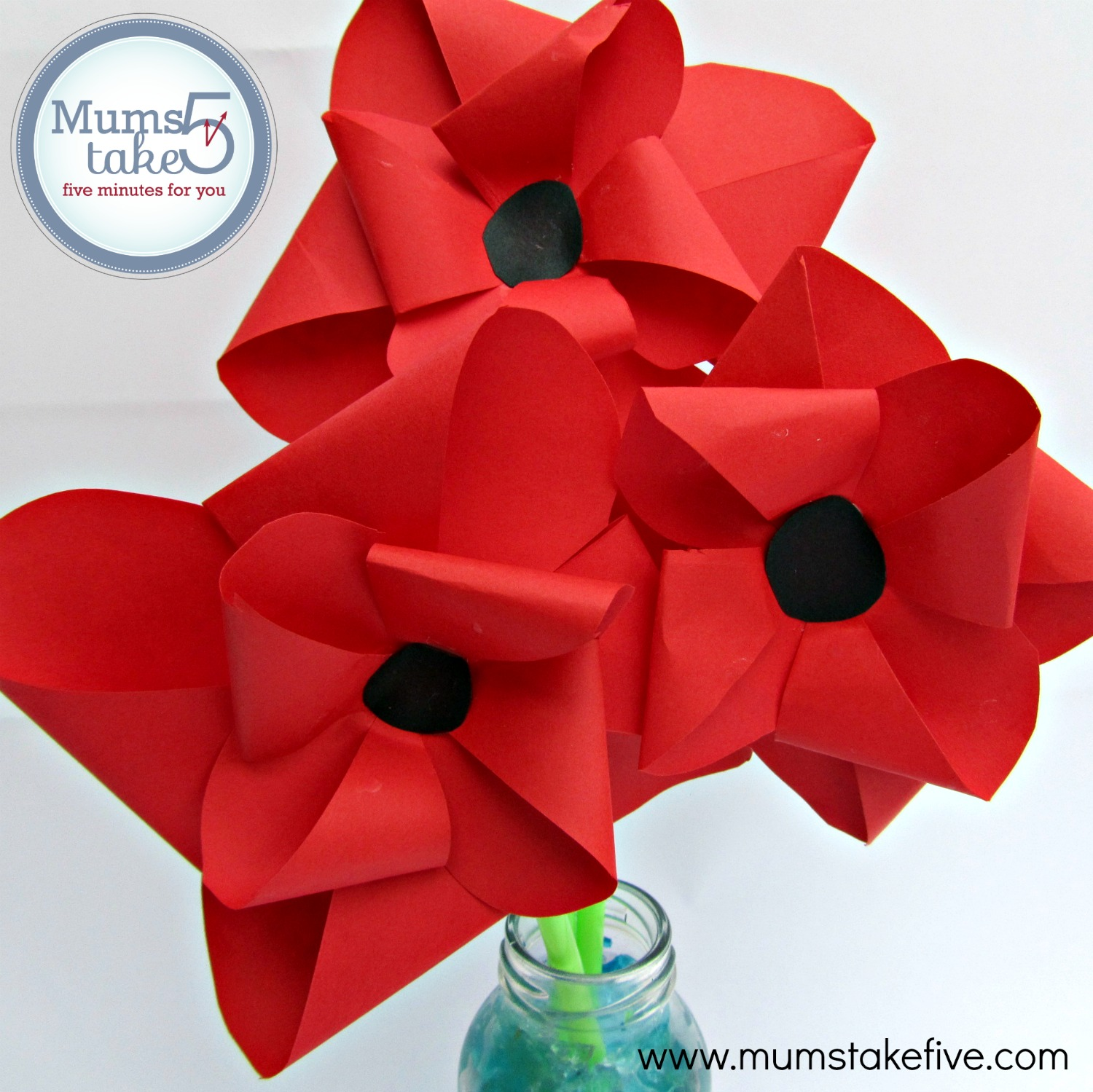 paper poppies and flowers