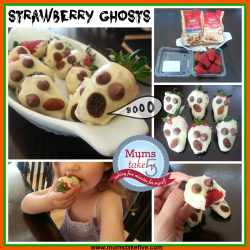 Halloween Snacks Strawberry Ghosts