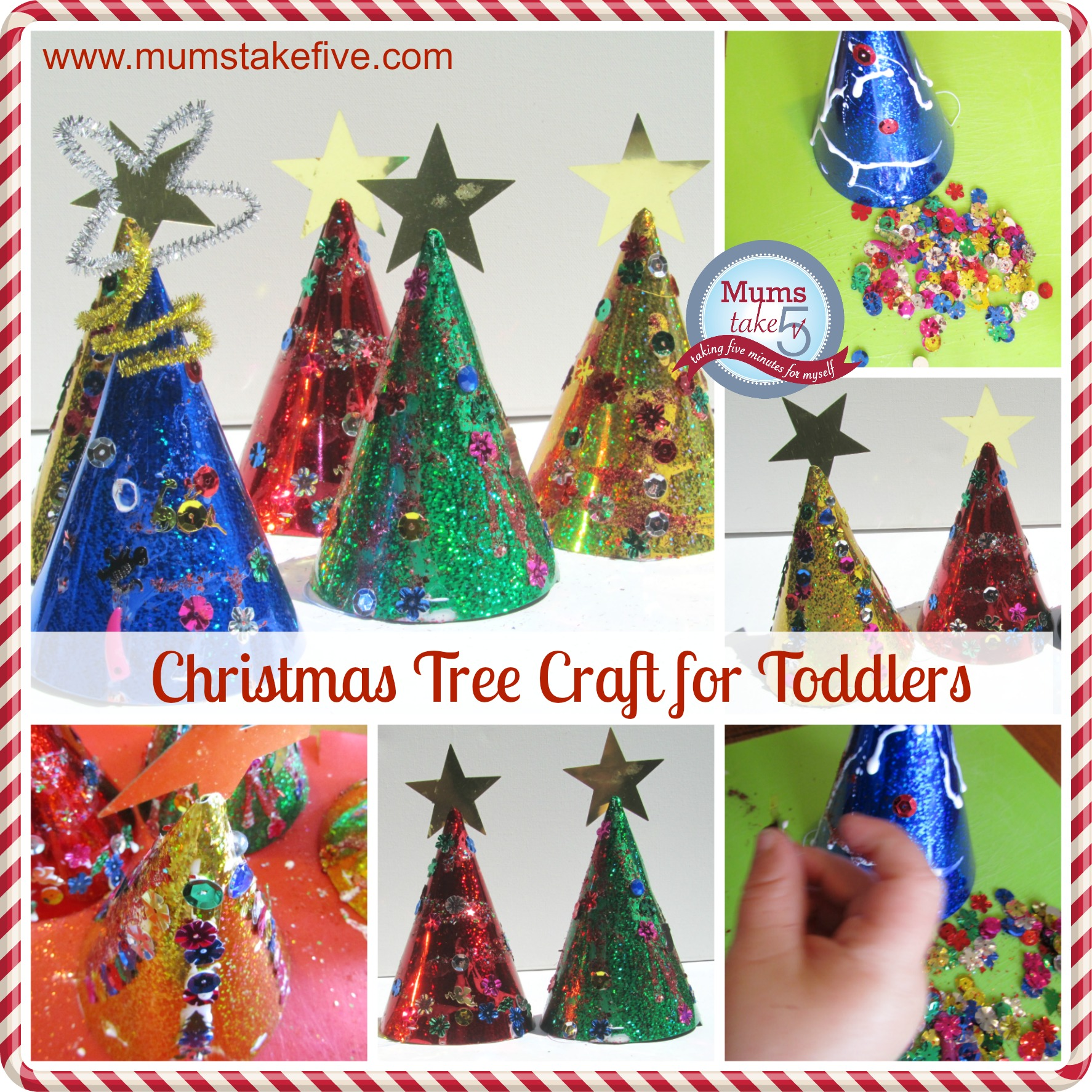 Toddler Christmas Tree Group Craft