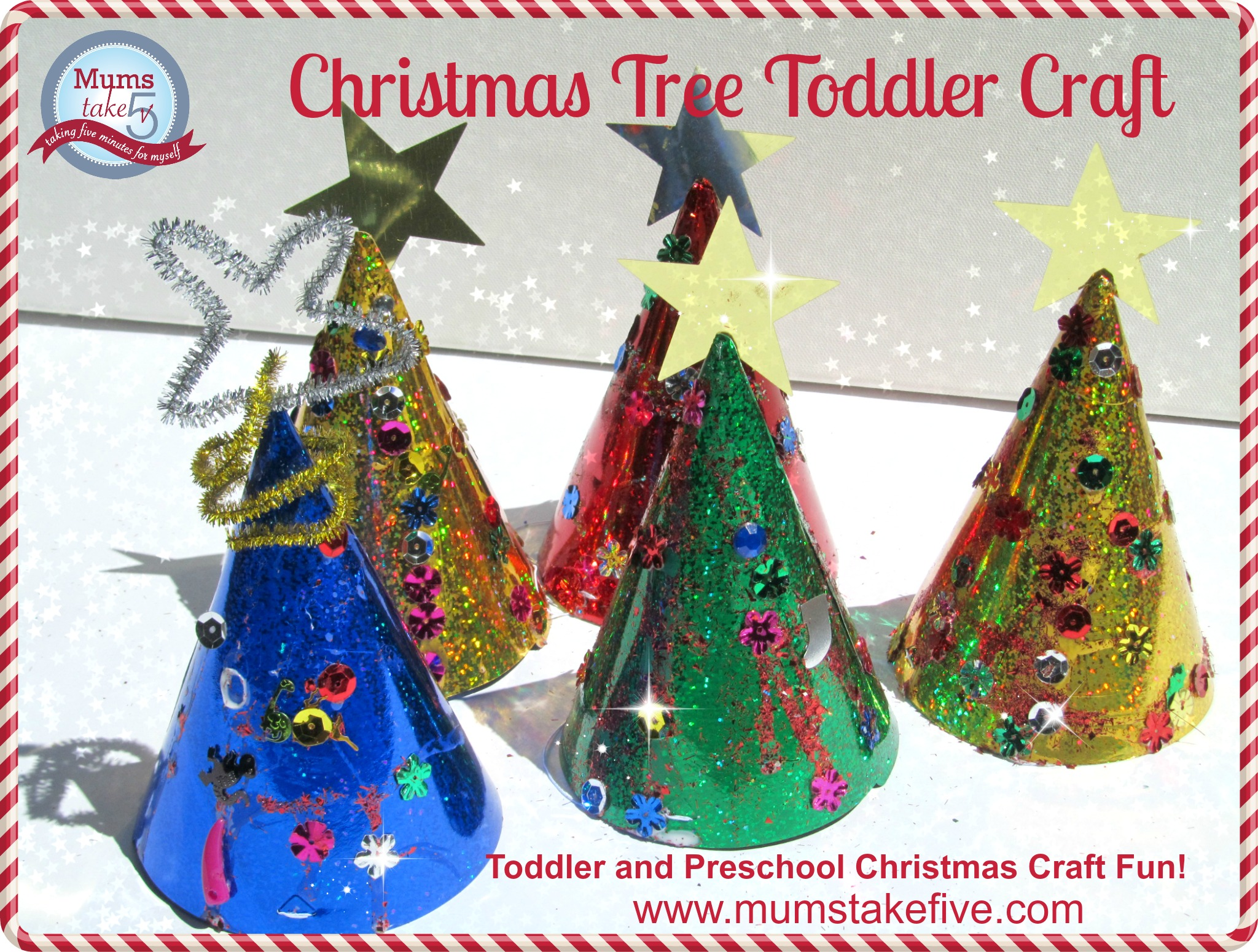 Easy Christmas Tree Toddler Preschool Craft
