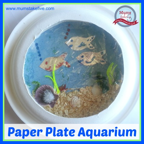 Aquarium Paper Plate kids craft  sc 1 st  Mums Take Five & Ocean/Water Theme Craft Paper Plate Aquarium