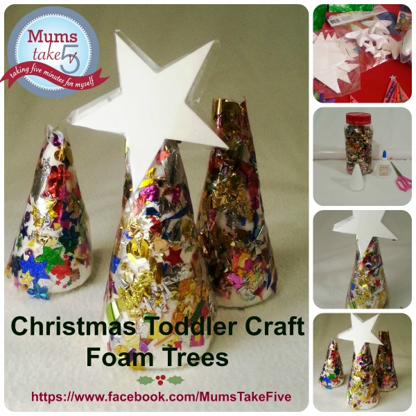 Glitter Christmas Tree Kids Craft