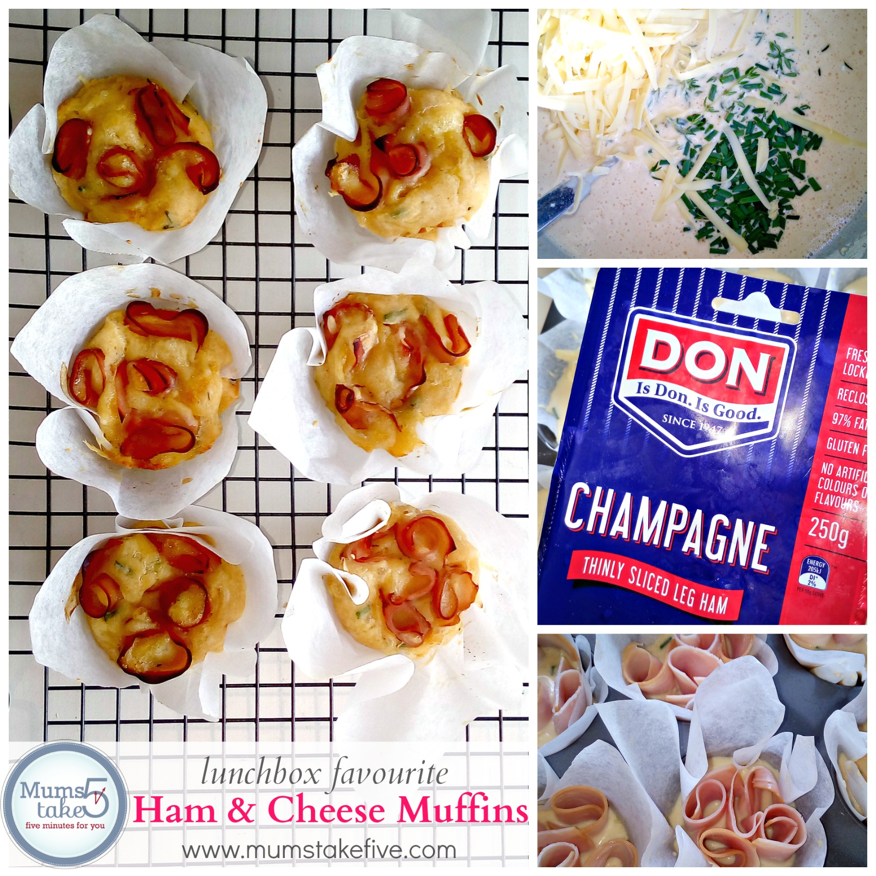 Easy Ham and Cheese Muffin Recipe