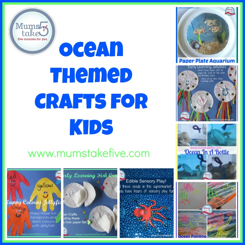 Ocean and water theme crafts for kids