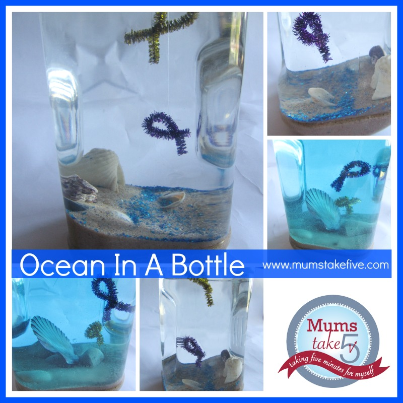 Ocean Theme Ocean in a bottle Craft