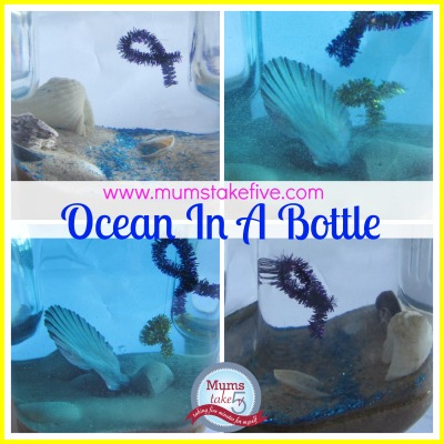 Ocean in a bottle kids craft fun early learning