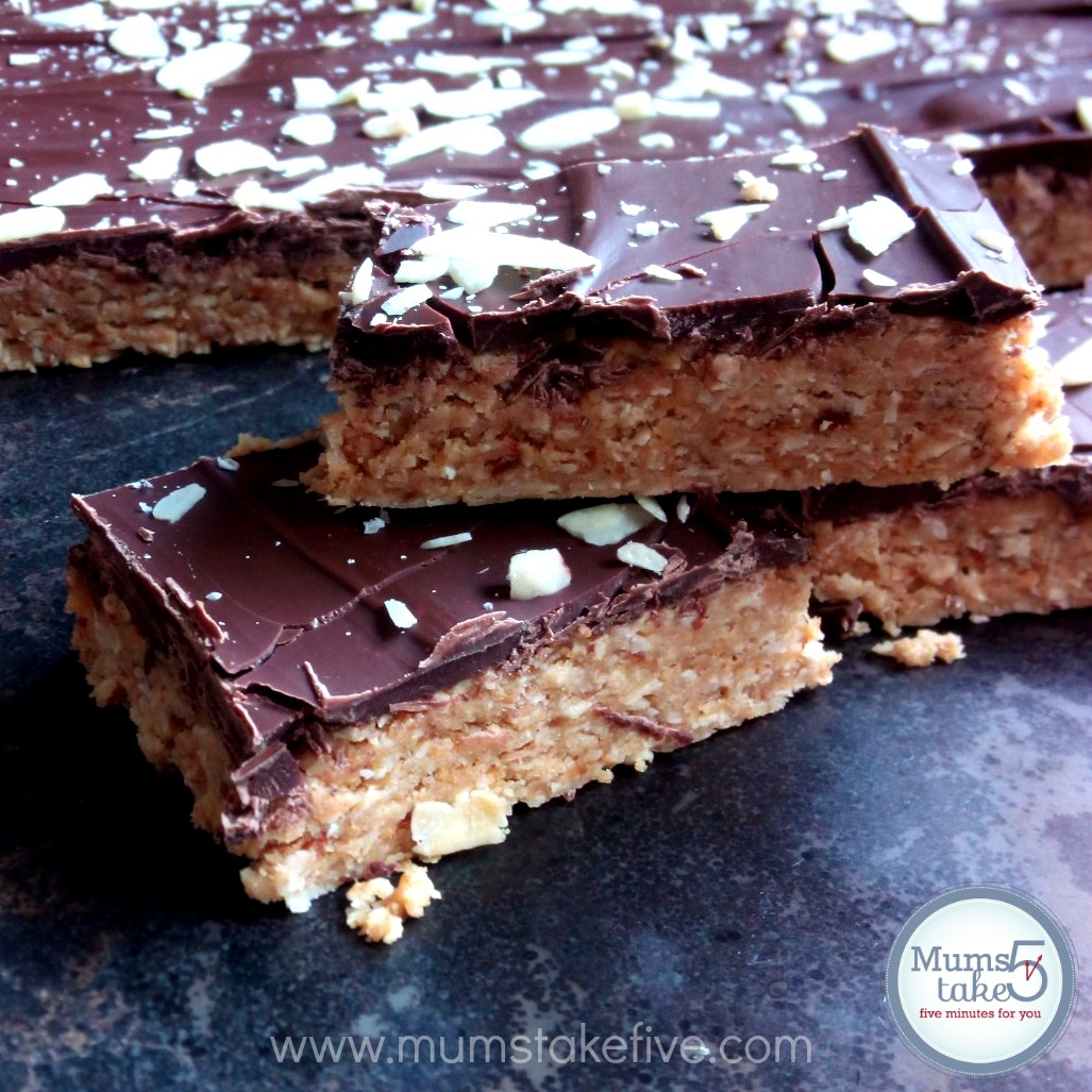 No Bake Easy Chocolate Peanut Butter Slice Recipe