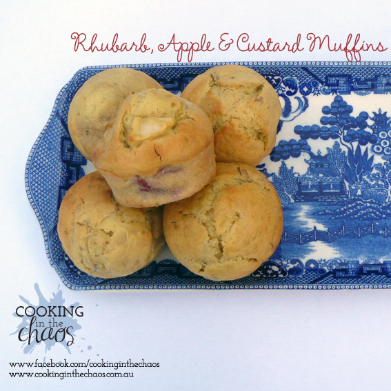 apple muffins rhubarb thermomix