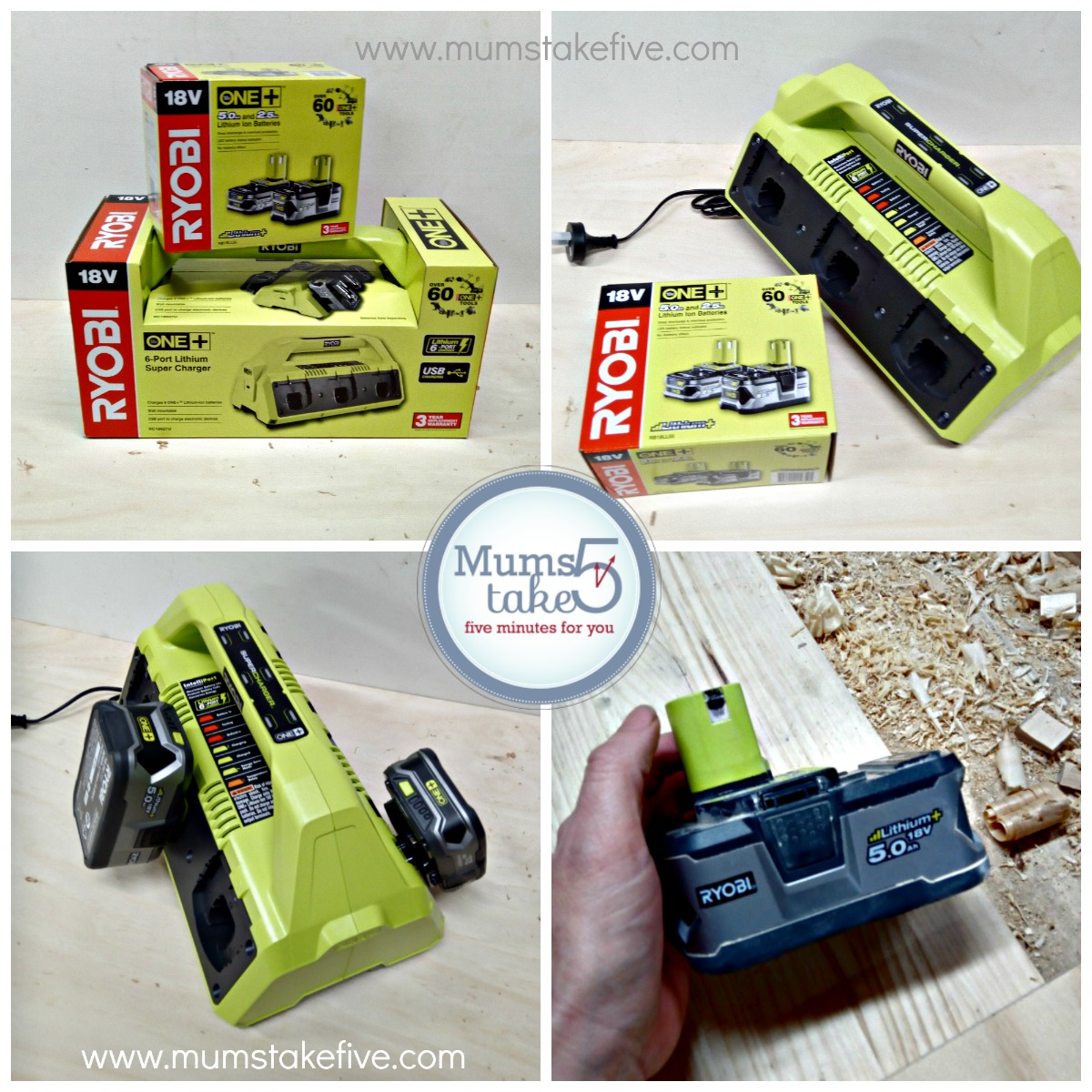 Ryobi ONE+  Super Charger Battery