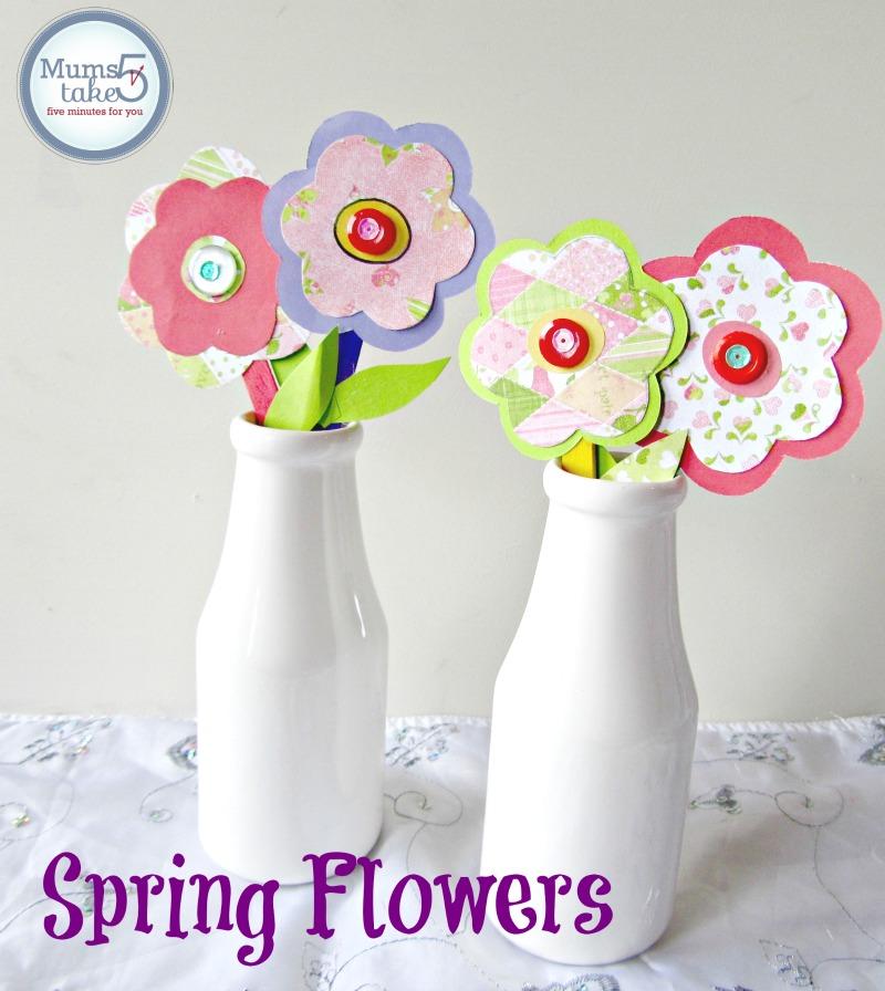 Spring flowers paper craft springpaper flowers craft kids craft ideas spring craft mightylinksfo