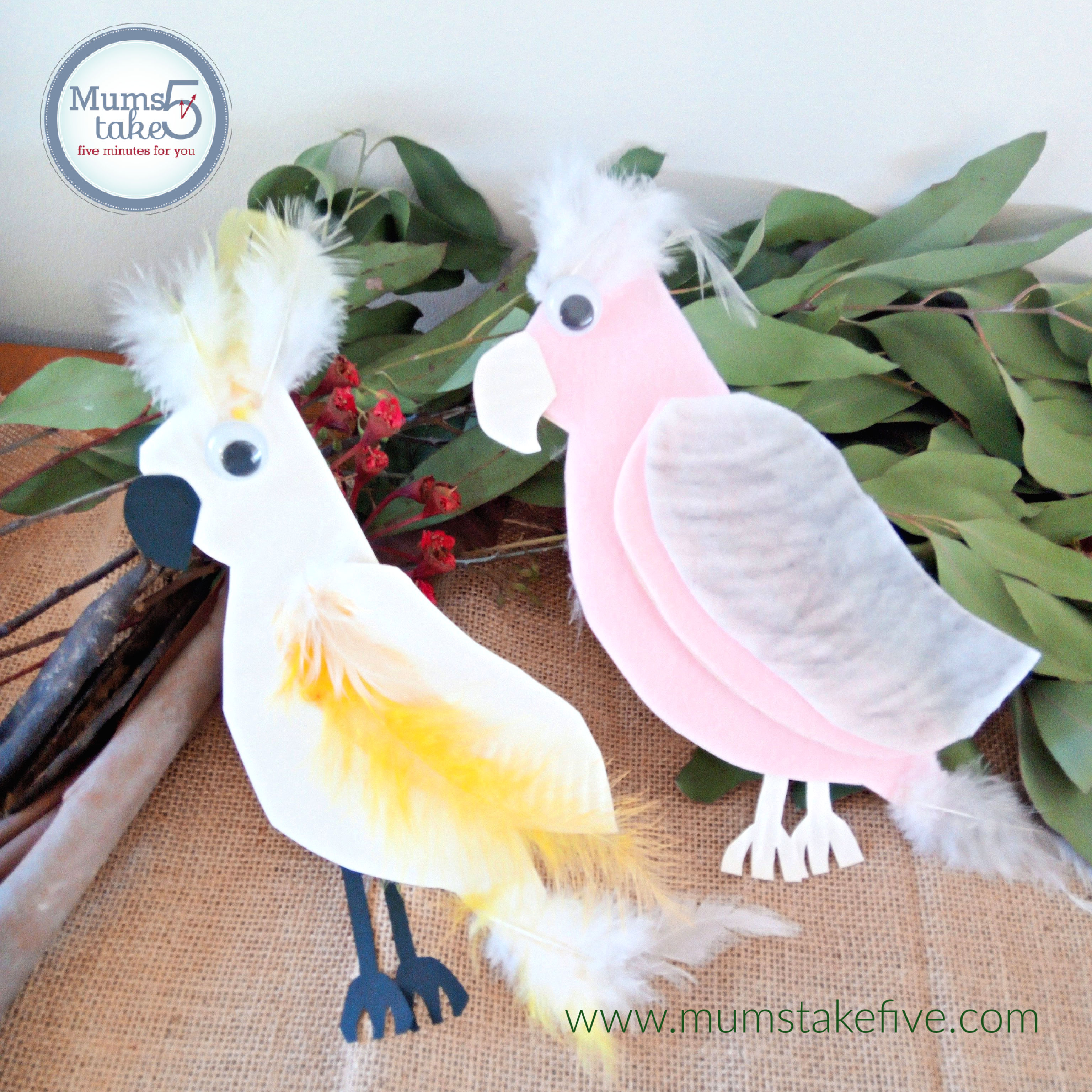 Australian Birds Paper Plate Craft