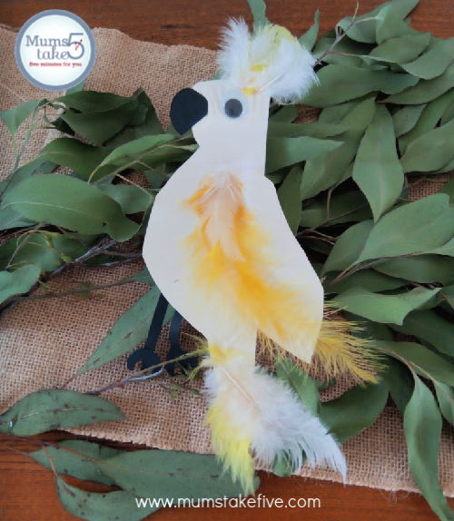 Paper Plate Cockatoo Craft