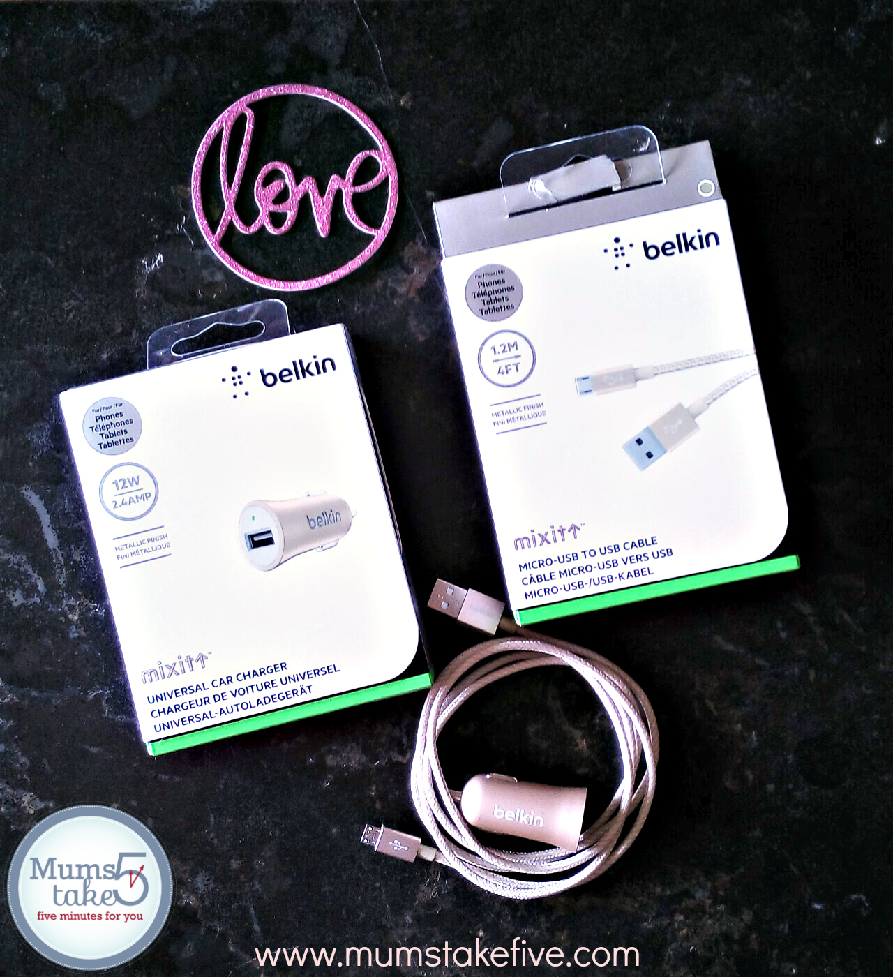Belkin Cables and Car Charger