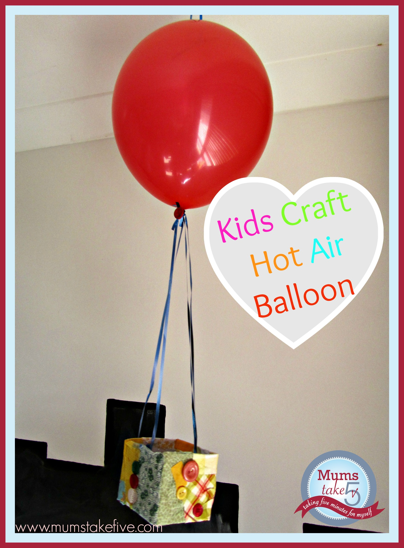 Peppa Pig Kids craft hot air balloon