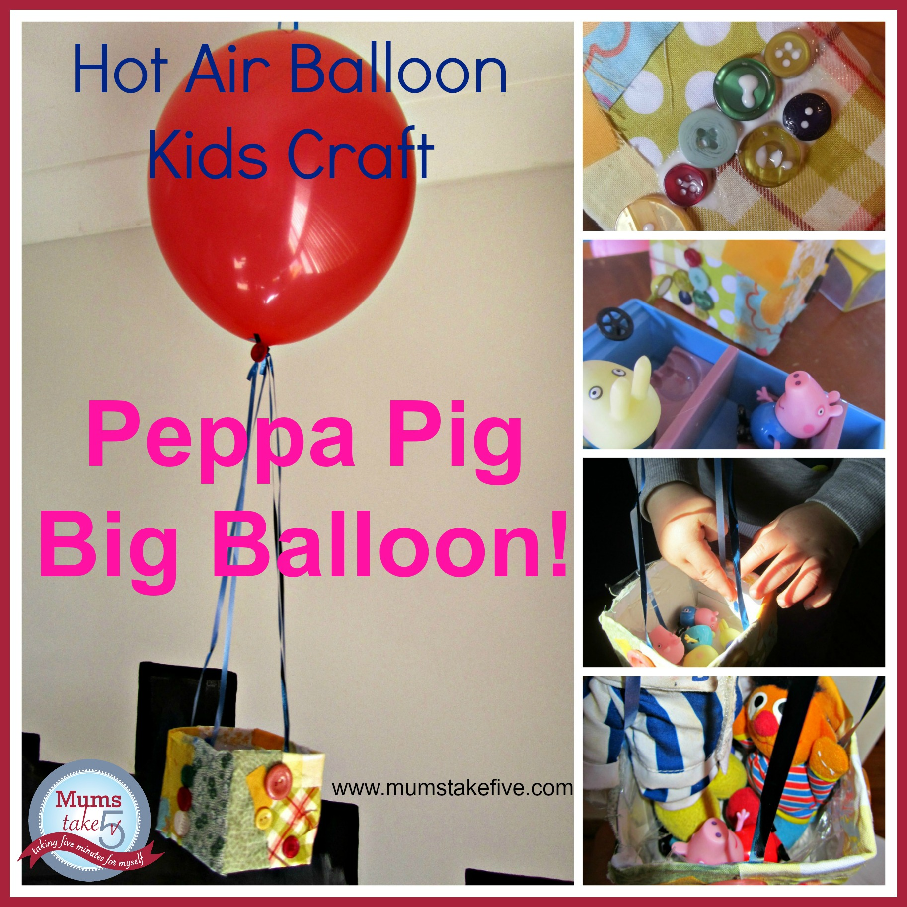 peppa pig big balloon craft