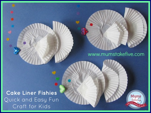 Paper fish early learning craft