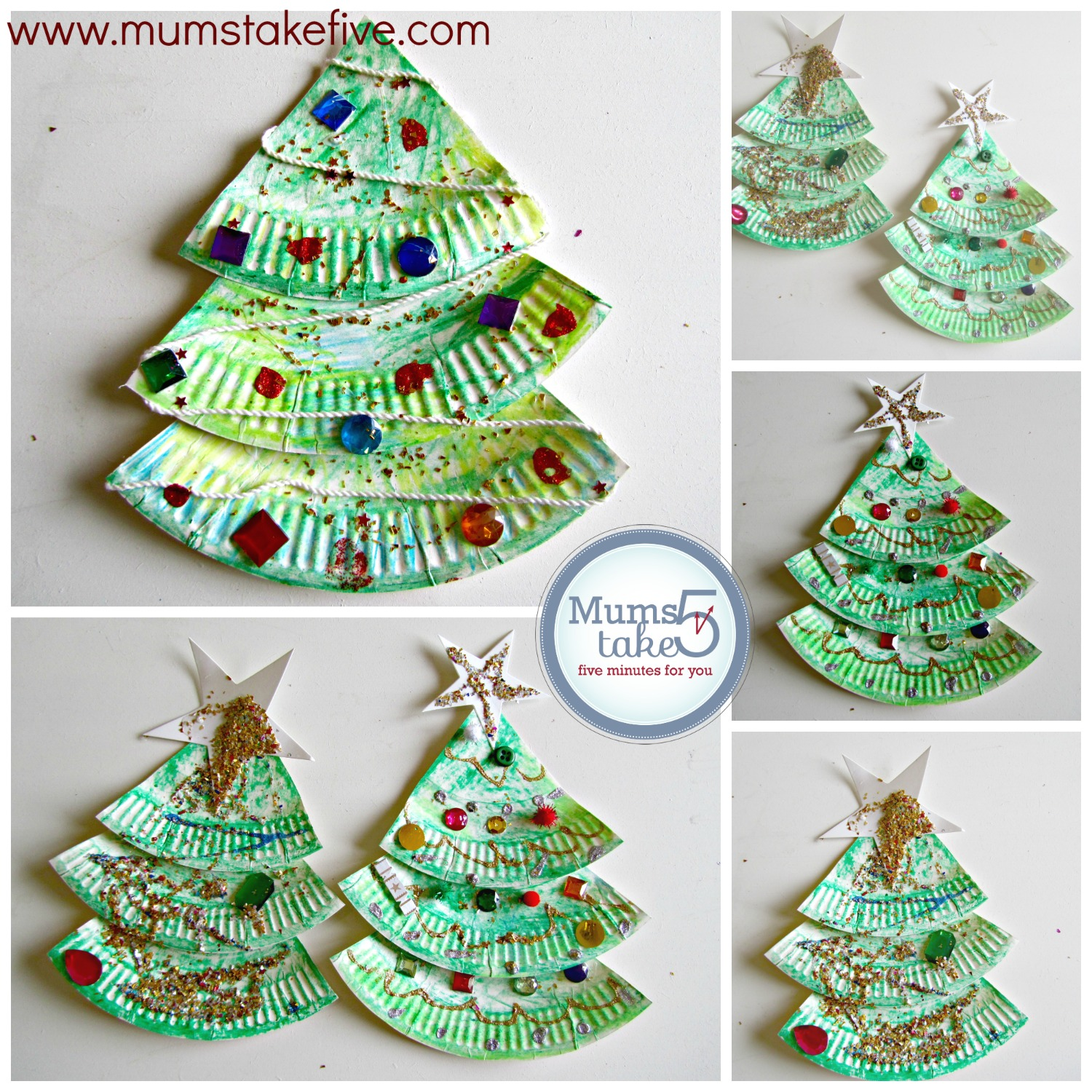 Christmas Paper Plate Tree