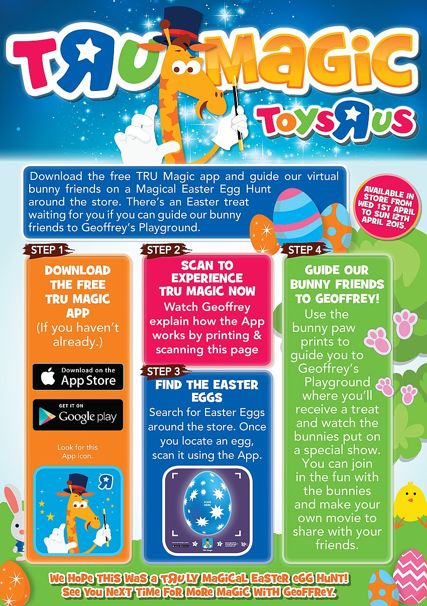 Toys R Us Easter Egg Hunt App