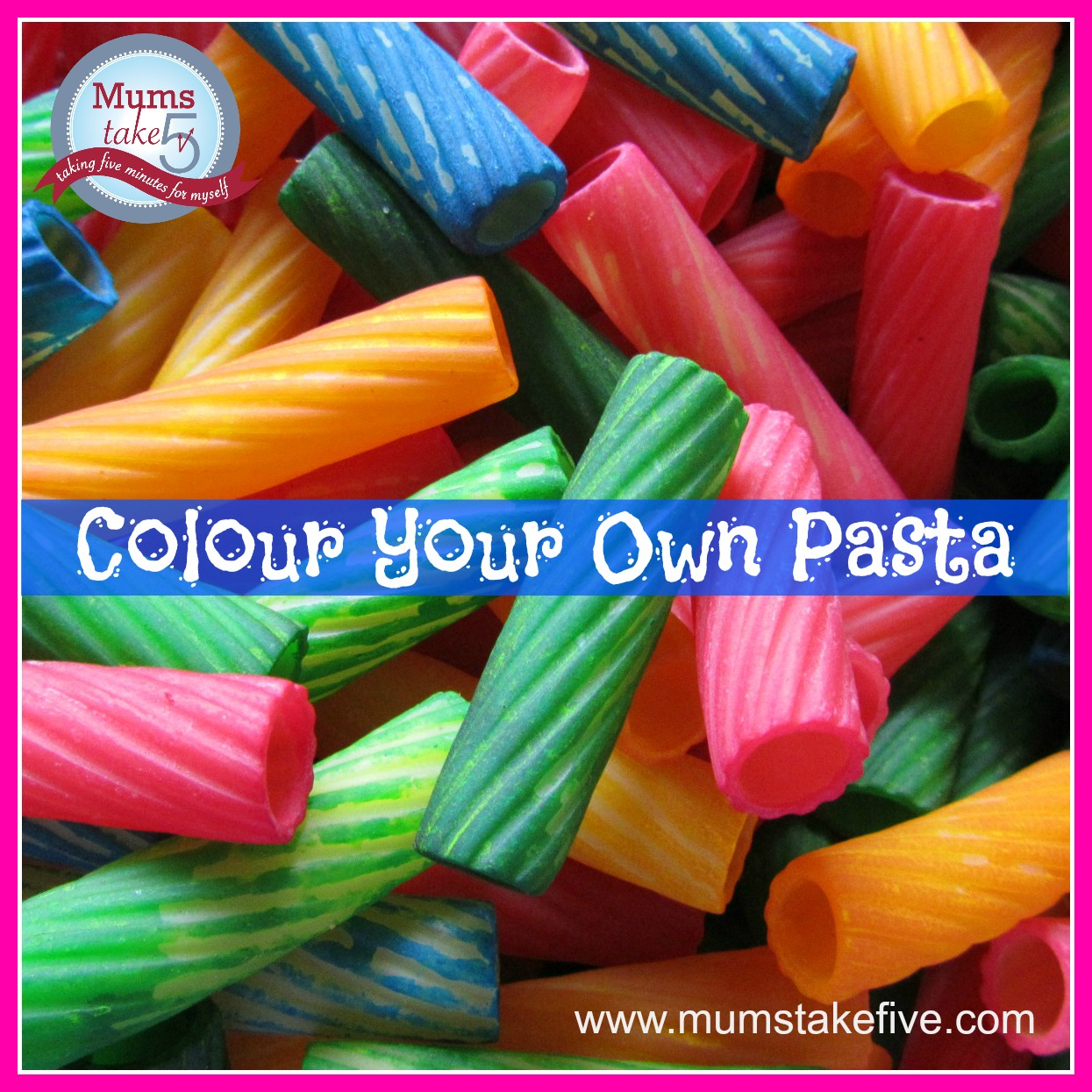 Colour Pasta easy kids craft