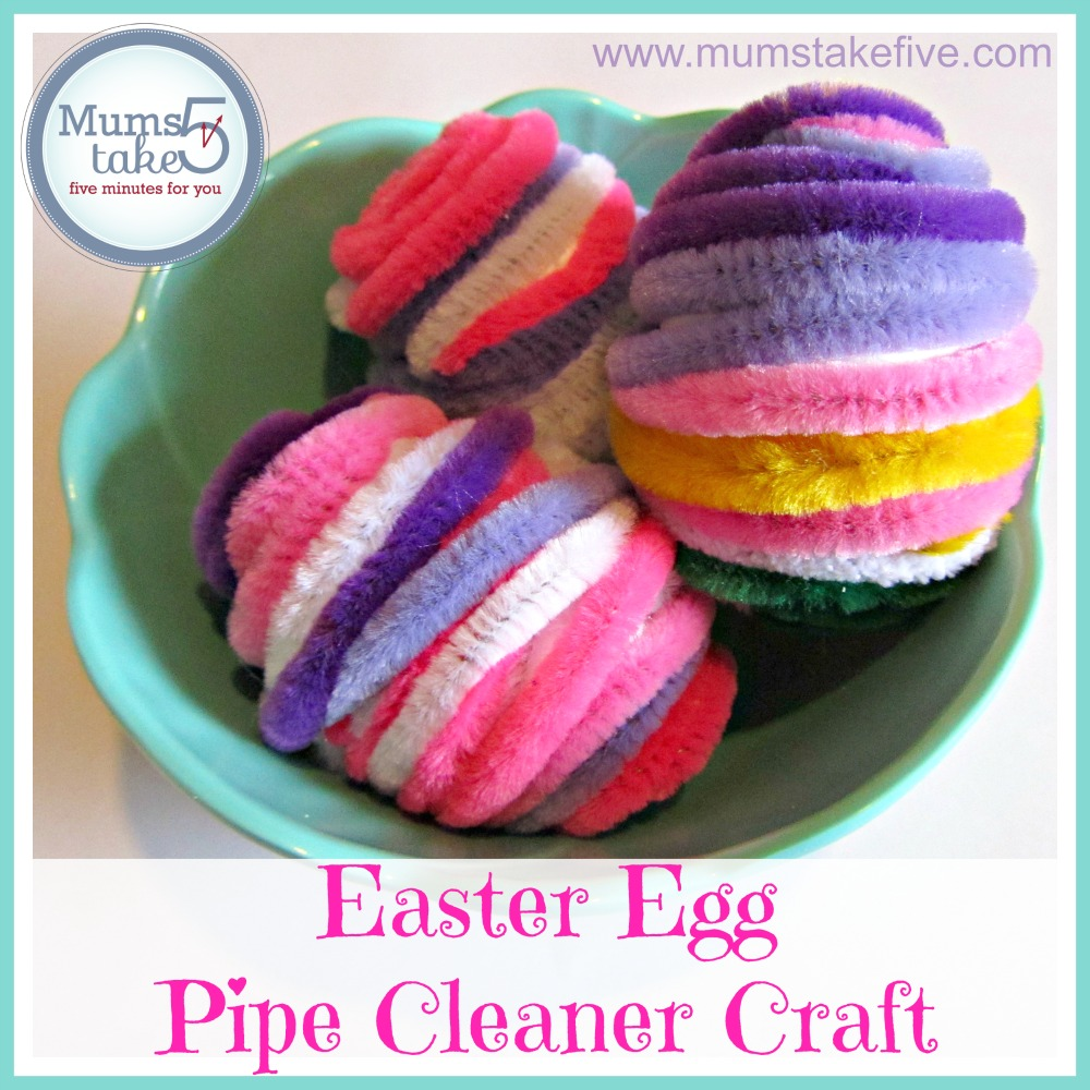 Easter Kids Craft Pipe Cleaner Easter Eggs