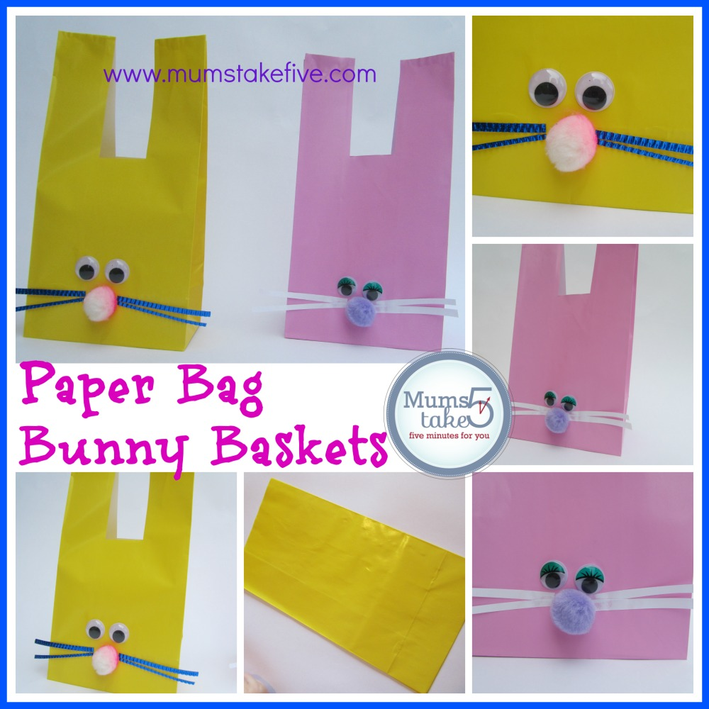 Easter Bunny Craft Paper Bag Bunny