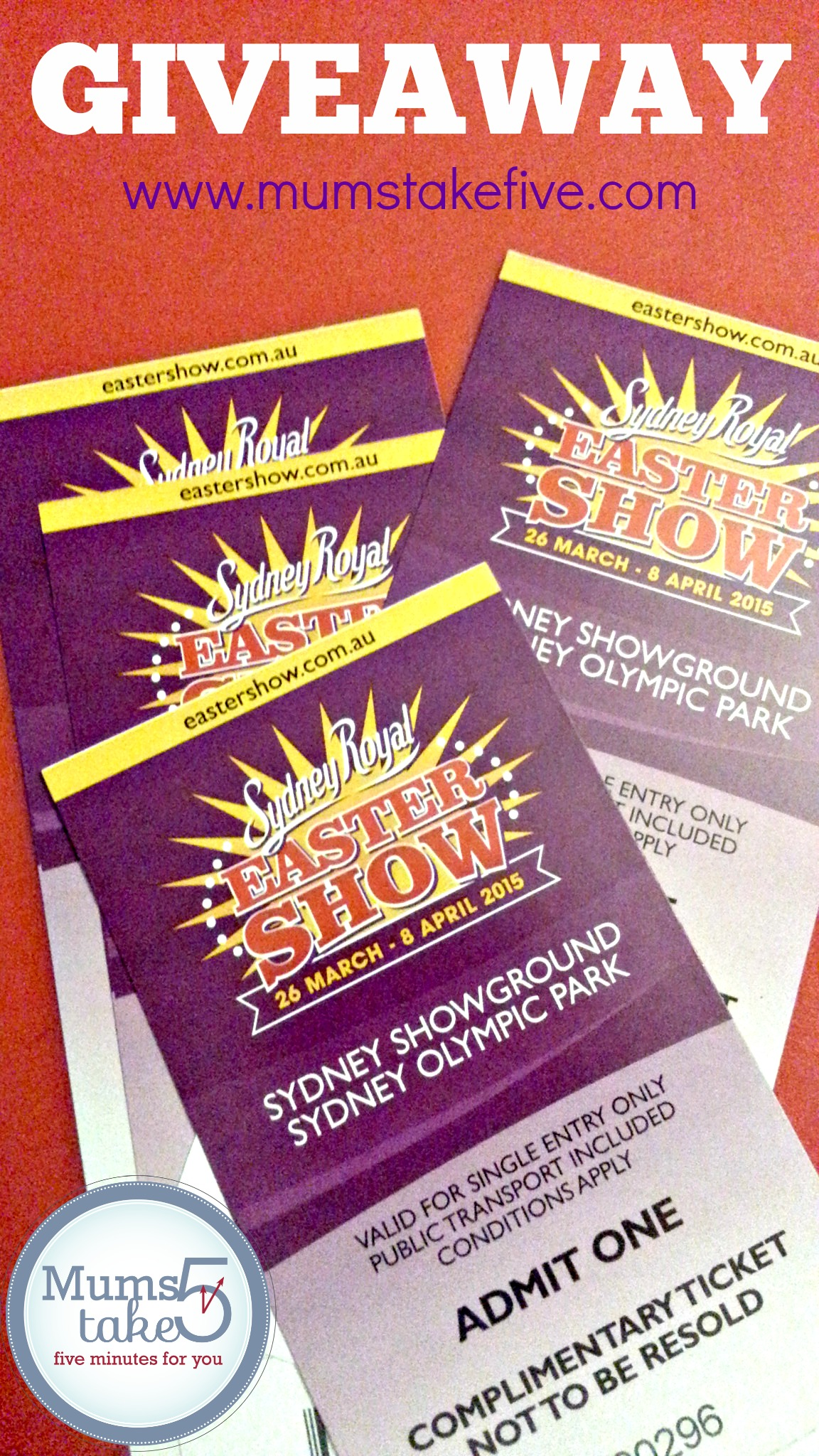 easter show tickets giveaway