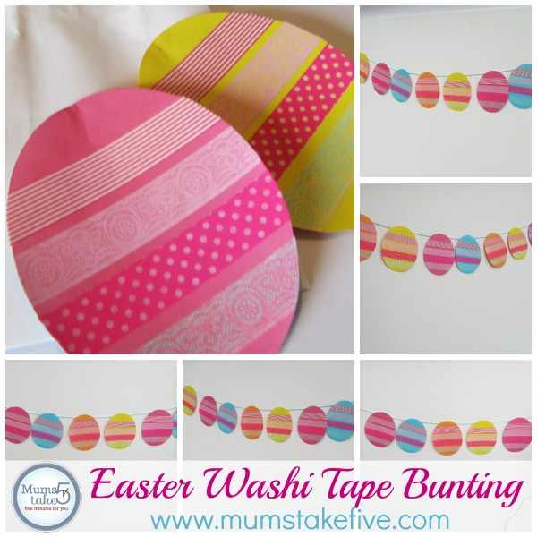 easter washi tape bunting