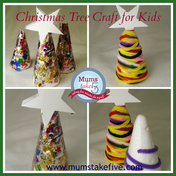Christmas Craft tree for preschool toddlers easy kids craft