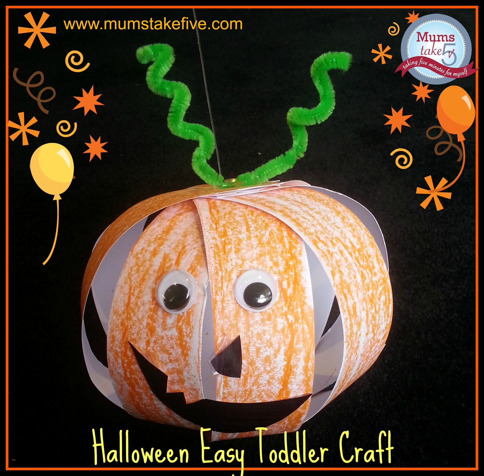 Halloween craft easy pumpkin crafts