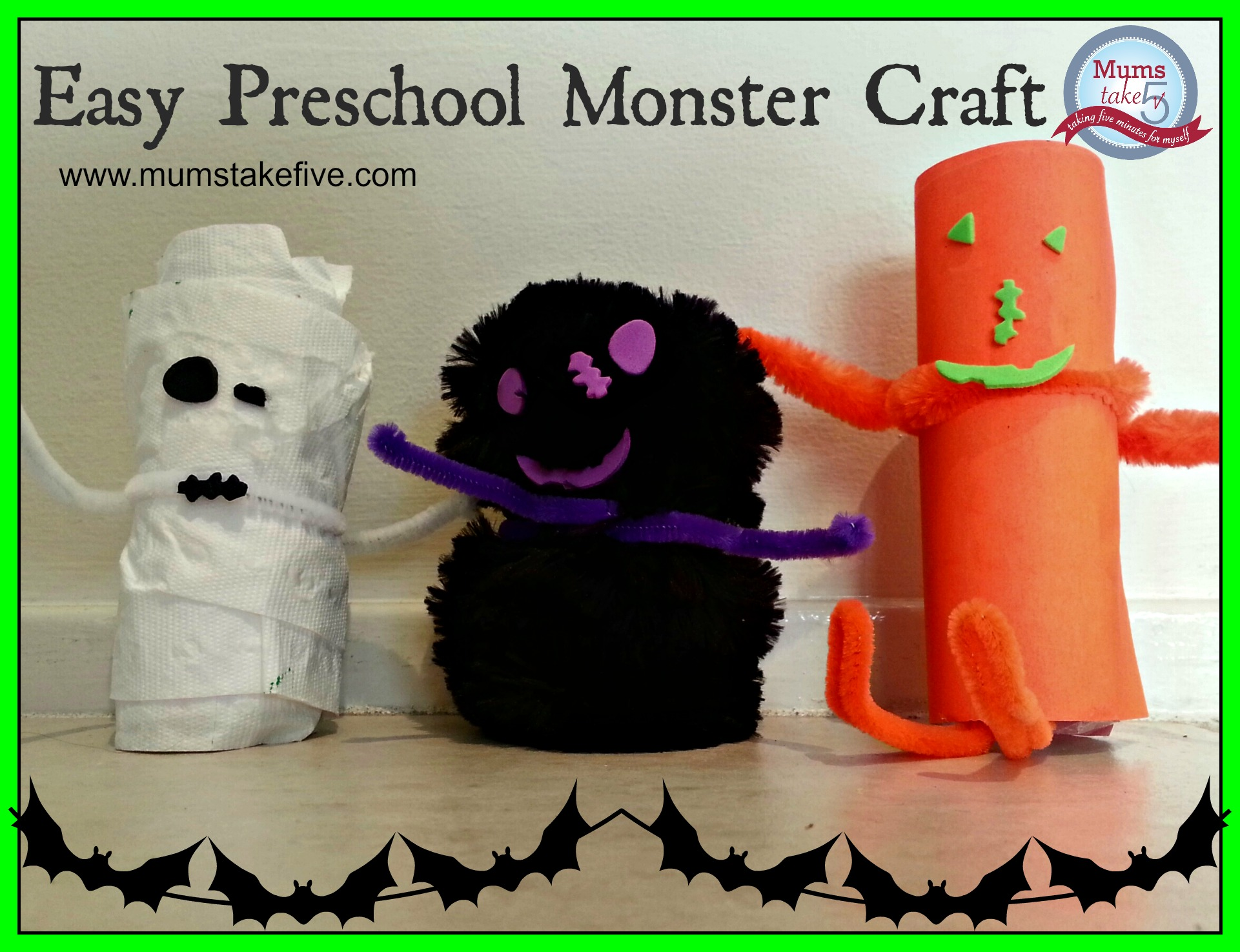 halloween preschool easy monster craft