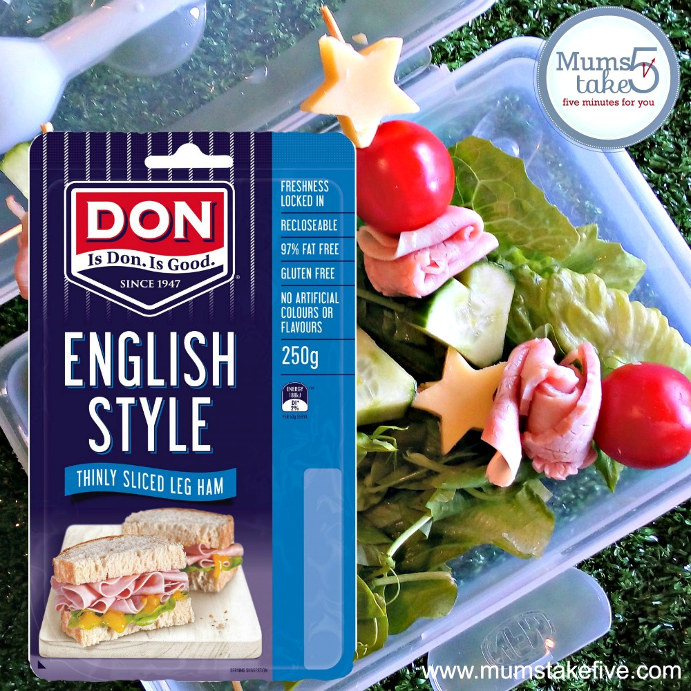 Don Ham and Salad Lunchbox Skewers
