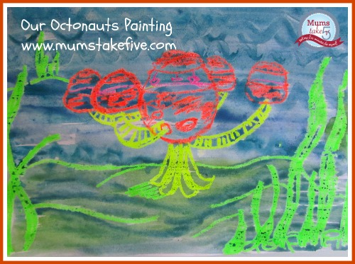 Octonauts Ocean theme painting toddler craft