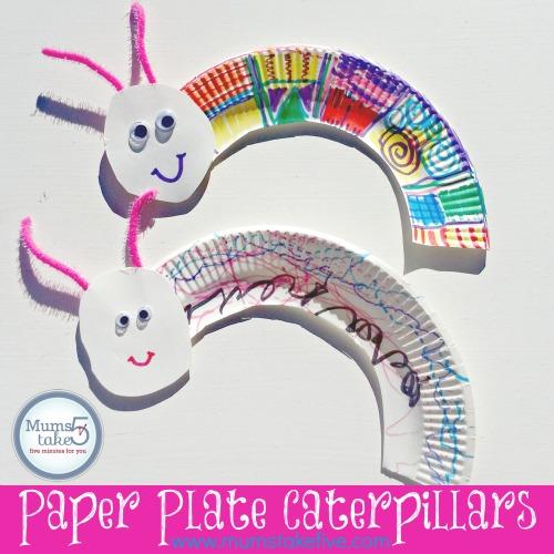 paperplate caterpillar craft