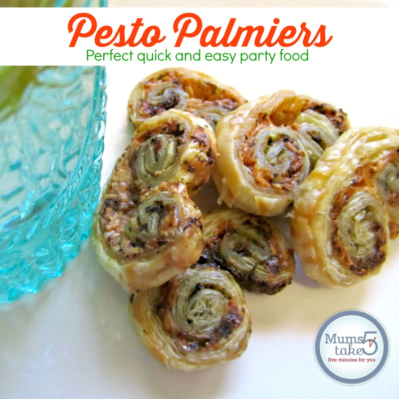 Pesto Palmiers  Party Food