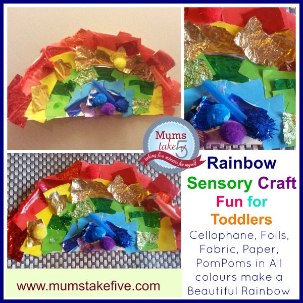 Rainbow craft collage for early learning