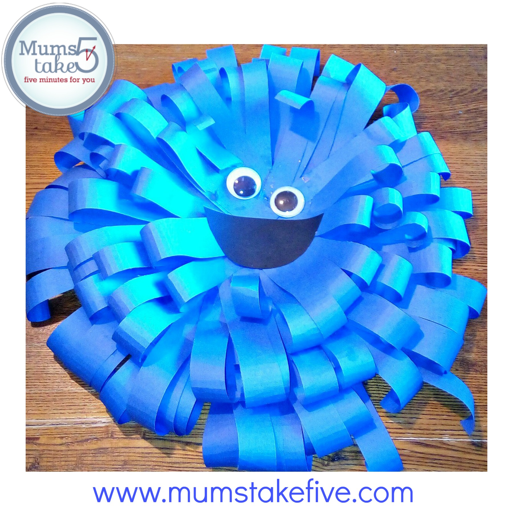 Sesame Street Cookie Monster Paper Plate Craft