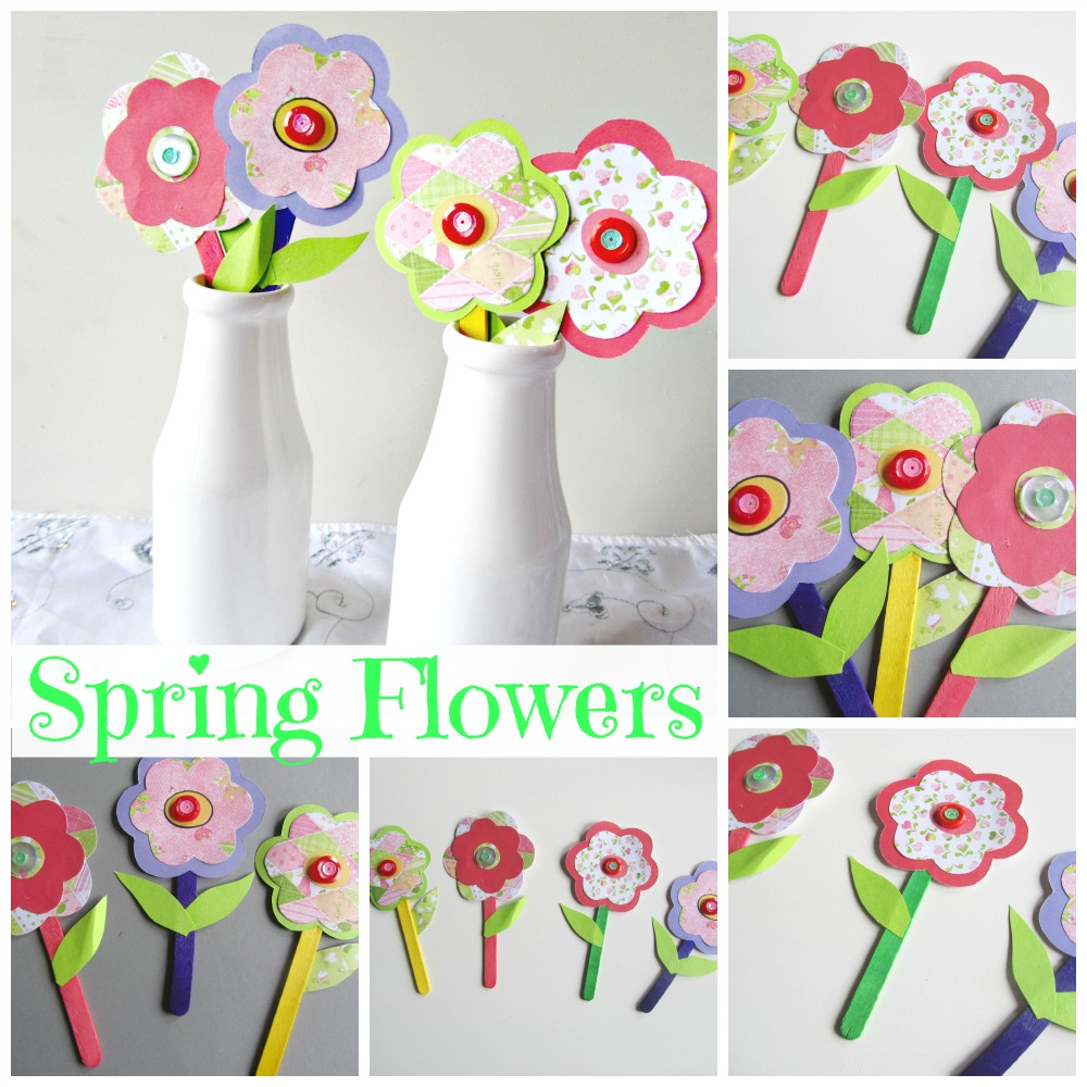 Spring Flowers Paper Craft