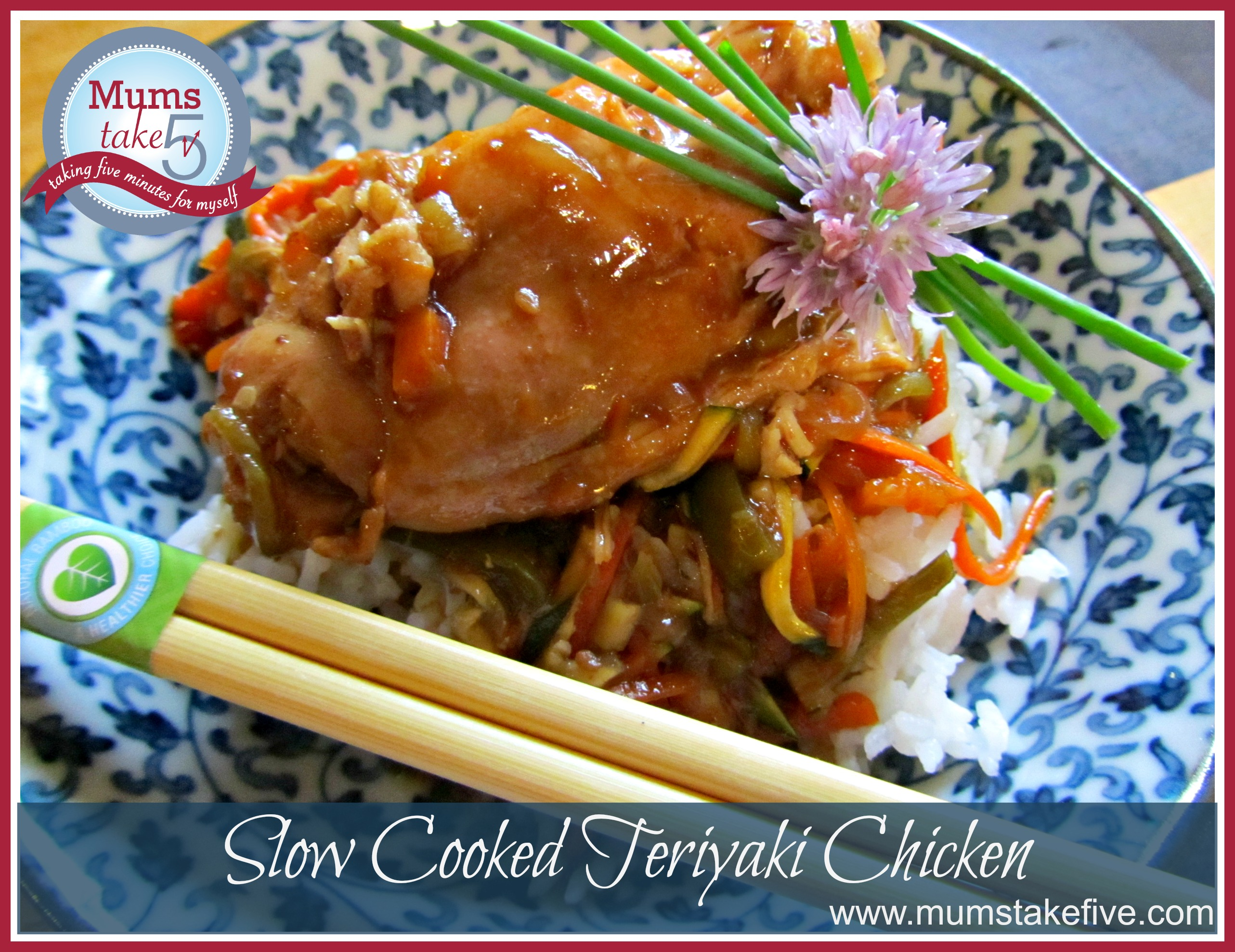 Slow Cooked Teriyaki Chicken  www.mumstakefive.com