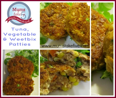 Tuna Vegetable and Weetbix Patties