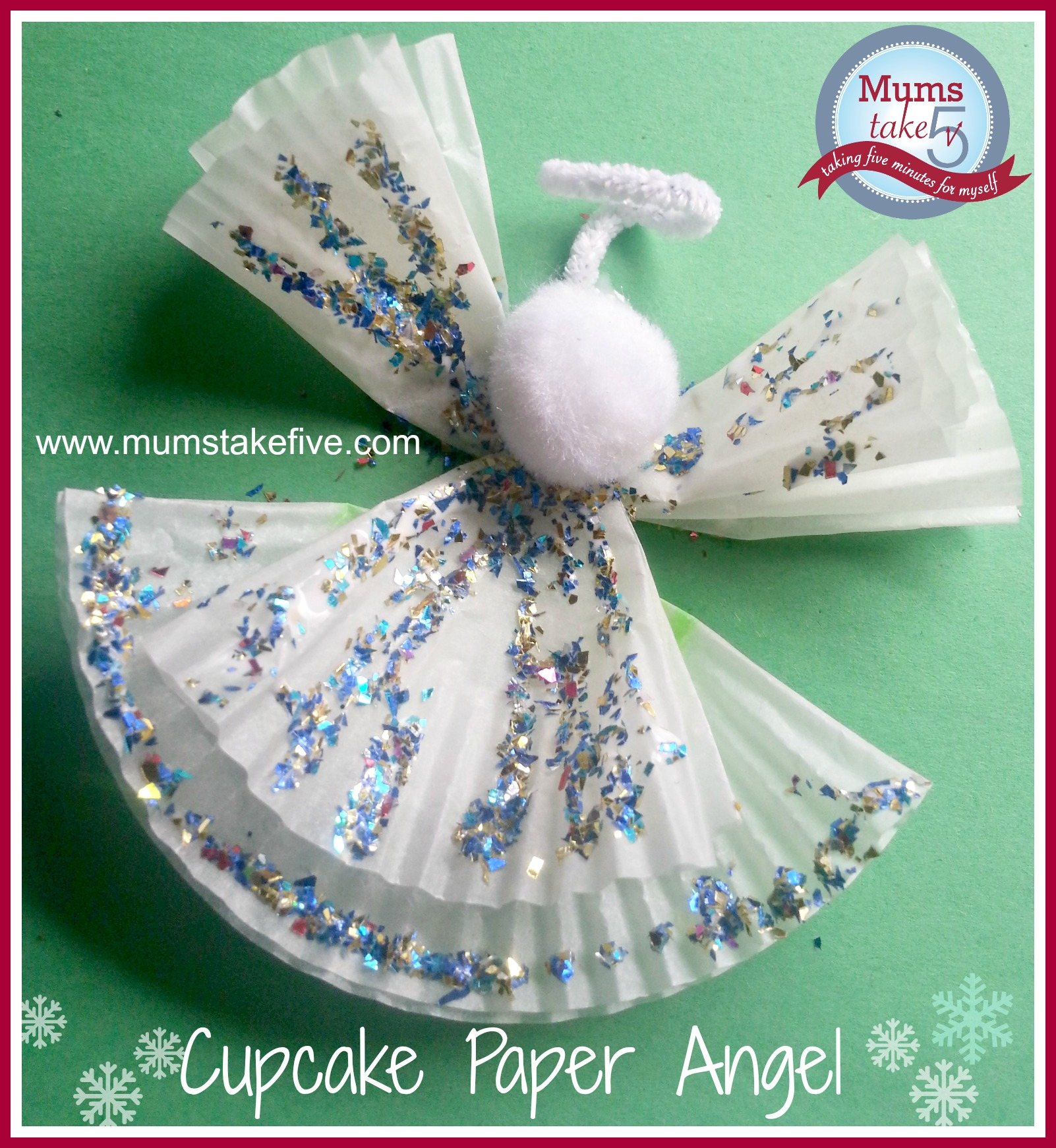 cake liner christmas angel and christmas tree