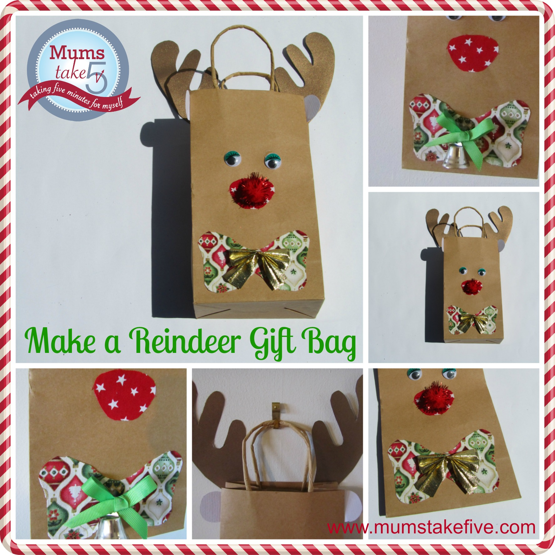Christmas Reindeer Paper Bag